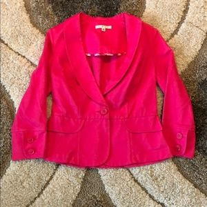 Cabi • power pink twill cotton blazer #310